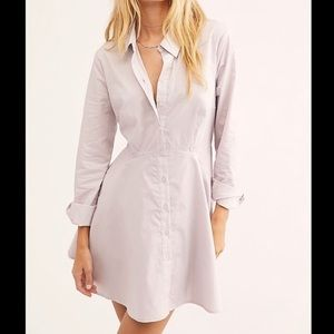 Free People Molly Mini Flare Button Dress large